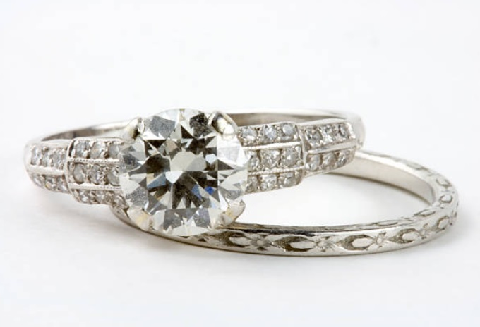 antique diamond rings old world style - european cut