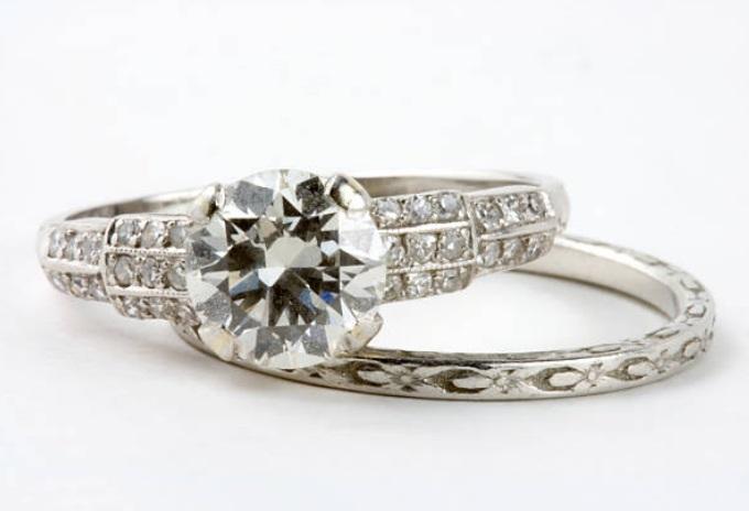antique diamond rings old world style - european cut