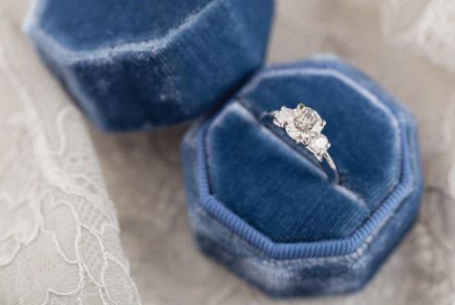 three stone ring engagement